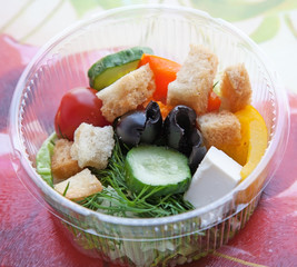 Picnic with mix salad