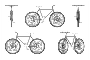 Wireframe design of bicycle