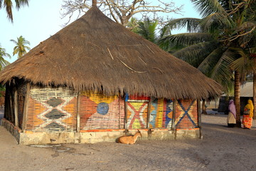 Typical cabin-Carabane-Senegal