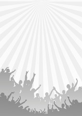 Gray Music Background - Vector