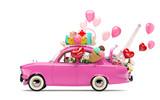 Fototapety Car of love
