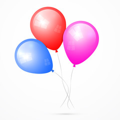 Vector Balloons Isolated on White Background