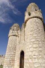 Medieval castle entrance