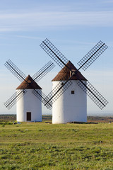 Two windmills front view