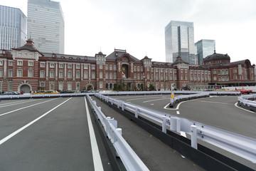 Old Tokyo railway station in Japan