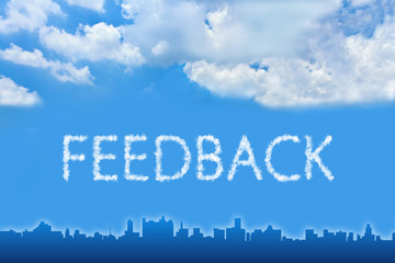 feedback text on cloud