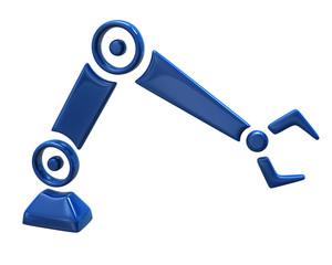 Illustration of blue repair robot hand