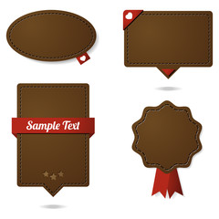 Leather design elements