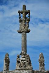 Calvary of Notre-Dame de Tronoën chapel, Brittany, France