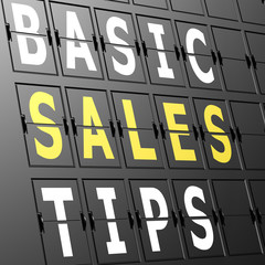 Airport display basic sales tips