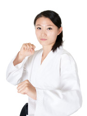 Taekwondo woman portrait