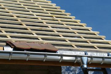 détail de couverture de toit - zinguerie / couverture