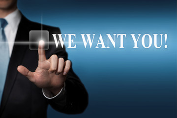 WE WANT YOU - job application