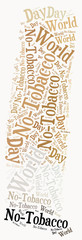 Word cloud related to World No-Tobacco Day