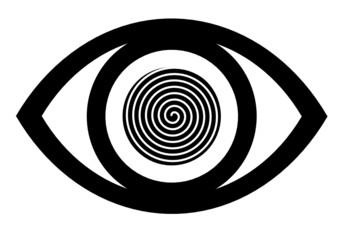 Eye icon vector with spiral design