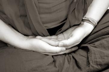 Hands in meditation