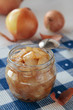 Confiture of onions in jar