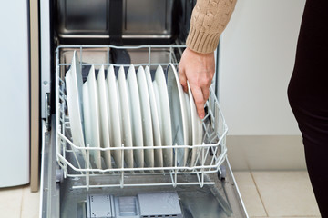 dishwasher at the kitchen