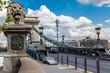 The Szechenyi Chain Bridge is a beautiful, decorative suspension
