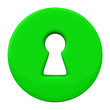 Green key hole, 3d