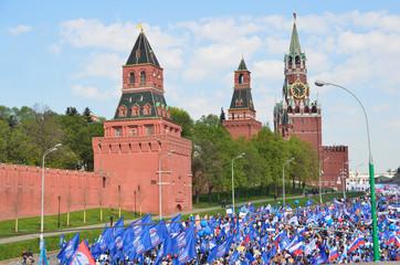 Первомайская демонстрация на Красной площади в Москве, 2014 год