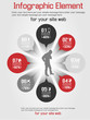 INFOGRAPHIC MAN BUSINESS OPTION RED