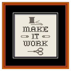 Embroidery, Make It Work sewing fashion design cherry wood frame