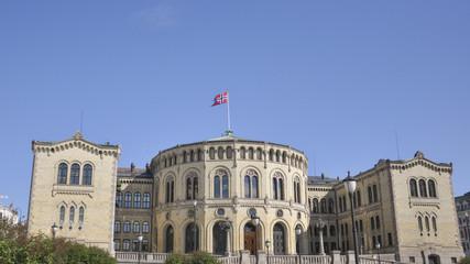 Oslo, Altstadt, Parlament, Sommer, Norwegen