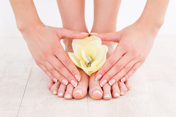 Beautiful manicure and pedicure.