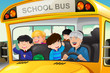 Detaily fotografie Kids having fun in a school bus