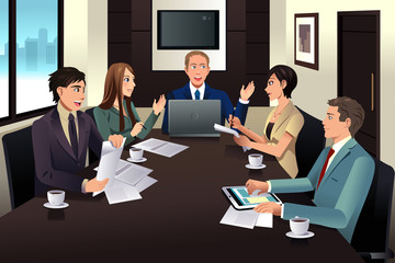 Business team meeting in a modern office