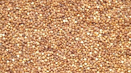 Buckwheat are rotated on the table.
