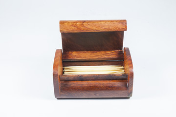 Wood Box of toothpicks
