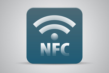 NFC icon button blue green