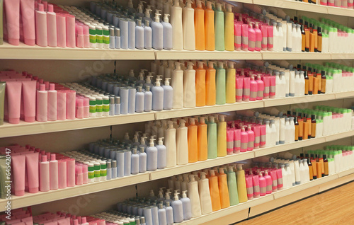 Retail store cosmetic shelves - 64542047