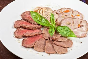 Closeup meat cuts