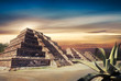Photo Composite of Aztec pyramid, Mexico, not a real place
