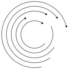 Thin circular arrows - (Rotation, circulation)