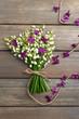 Постер, плакат: Beautiful lilac flowers and lilies of the valley
