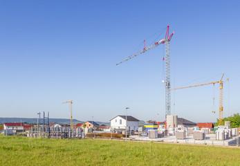 Baustelle für ein neues Wohnhaus