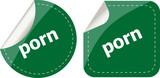 porn stickers set on white, icon button isolated on white poster