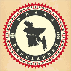 Vintage label-sticker cards of Bangladesh.