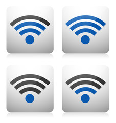 Signal icons, signal strenght indicators, levels, wireless conn.
