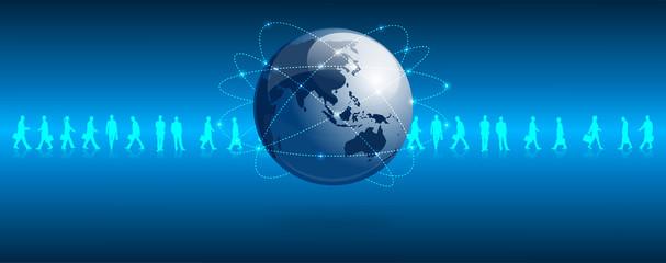 mondo connessione, dati, rete, internet, asia, Cina