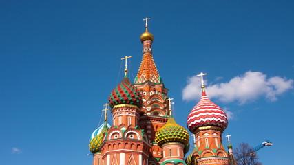 Vasily Blazhennogo's cathedral on a background of the blue sky