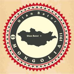 Vintage label-sticker cards of Mongolia.