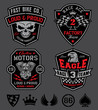 Motor patches emblem set - 64547458