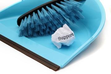 Support trash