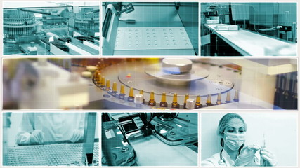Medicine production-split screen