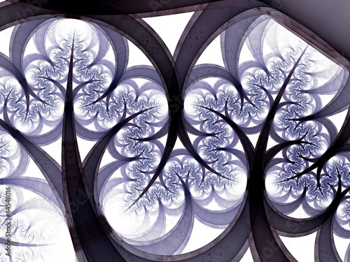 Fractal tree branches, digital artwork for creative graphic